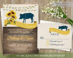 I DO BBQ Wedding Reception Invitation Printable Do Sunflower Barbecue Country Western