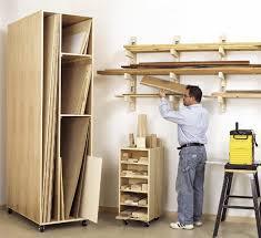 lumber rack scrap sheet good storage woodworking plan shop