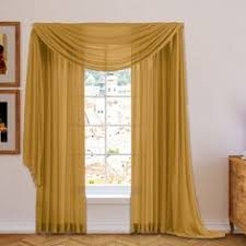 Searsca Sheer Curtains by Brylanehome Studio Sheer Voile Scarf Valance And Rod Pocket