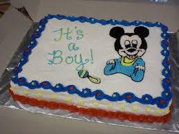 Themes Baby Shower Mickey Mouse Themed Baby Shower Cakes In
