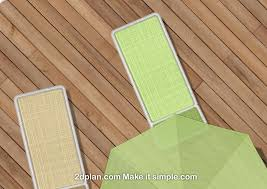 Top View Outdoor Furniture And Decking Texture