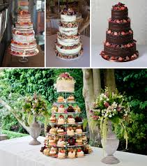 Selection Of Naked Cakes