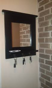 Decorative Key Rack For Wall by Home Decorating Design Entryway Mirror With Key Hooks