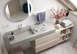 salgar compakt badmöbel komplettset waschtisch zement 120cm unterschrank nature