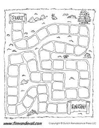 A Blank Game Board Template For Making Your Own Black And White Version