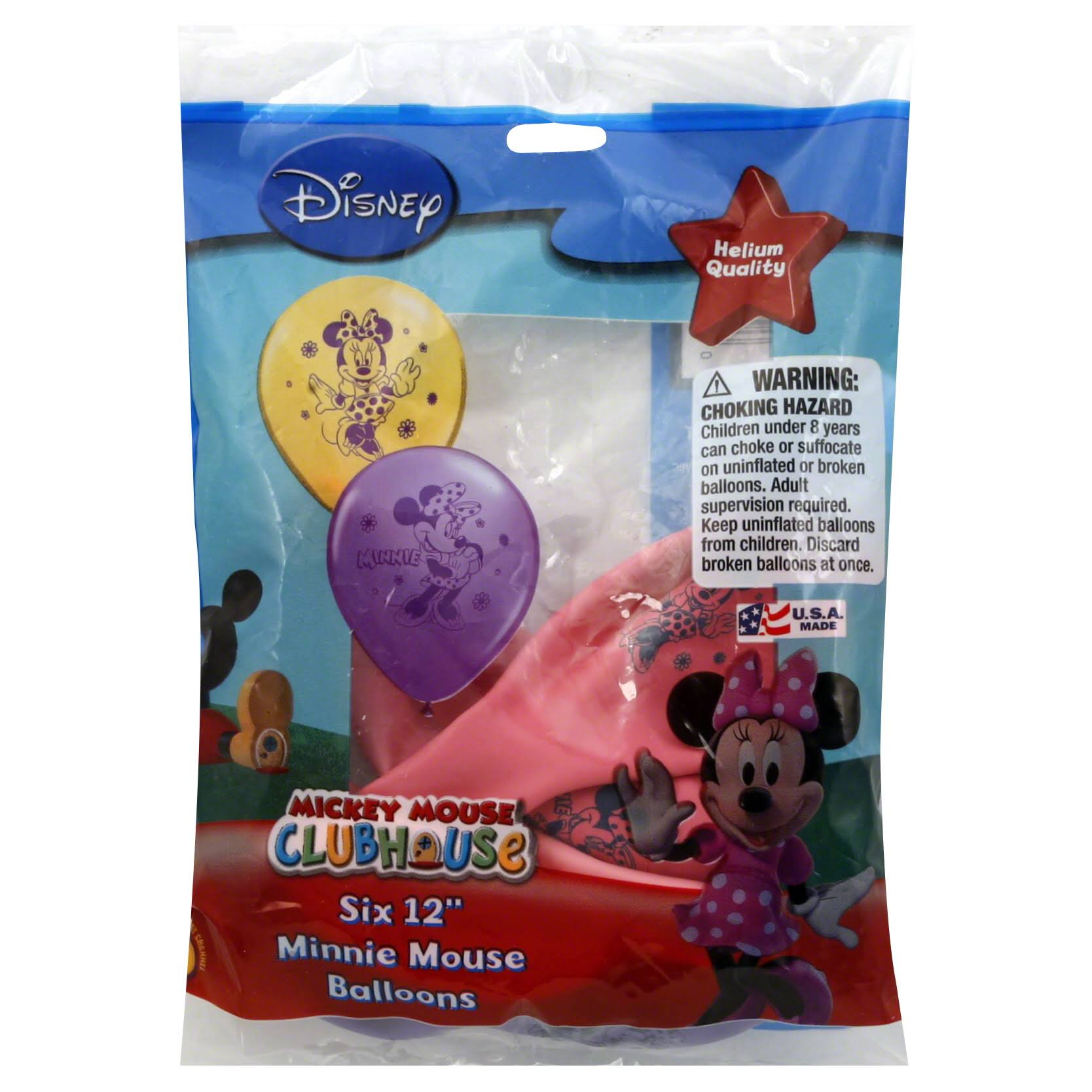 Pioneer Minnie Mouse Balloon - 6pk