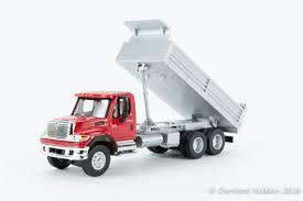 100 Red Dump Truck Internationalreg 7600 3Axle HeavyDuty Walthers