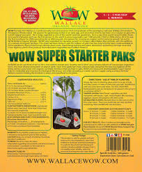Natural Fertilizer For Pumpkins by Buy Organic Plant Food Super Starter Paks Wallace Organic Wonder