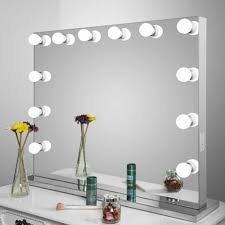 Vanity Table With Lighted Mirror Amazon by Amazon Com Vanity Hollywood Infinity Mirror Lighted 13