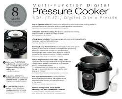 Bed Bath Beyond Pressure Cooker by Elite Platinum Epc 807 8 Quart Electric Pressure Cooker Stainless