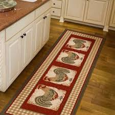 Orian Country Rooster Runner Rug Spanish Red 111 X 6 Kitchen DecorRooster DecorChicken DecorKitchen Decor SetsRed