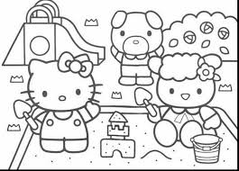 Excellent Hello Kitty Printable Coloring Pages With Free And