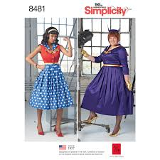 simplicity pattern 8481 misses u0027 and womens rockabilly dresses