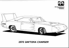 Astounding Dodge Charger Coloring Pages With Hot Rod And Free Printable