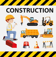 100 Types Of Construction Trucks Man And Construction Trucks On Poster Download Free Vector Art