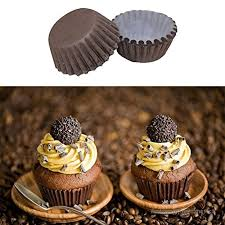 TXIN 400Pcs Standard Size Solid Color White Coffee Baking Paper Cupcake Muffin And Mini Cup Liners
