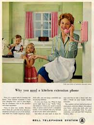 Bell Telephone Ad For Kitchen Phone Extension