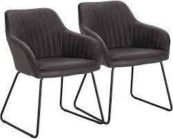 2er set esszimmerstühle aus kunstleder modell juan