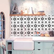 Victorian Kitchen Bathroom Backsplash Vinyl Tile Decals TileWallStair Vinyl Decal Stickers Black And White Removable Pack Of 24