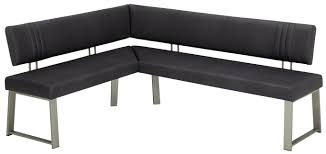 eckbank 140 200 cm in schwarz edelstahlfarben