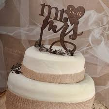 Rustic Cake Topper Wood Monogram Personalized