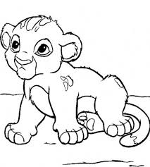 Baby Lion King Coloring Pages Download