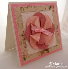 Folded Flower Handmade Card Design