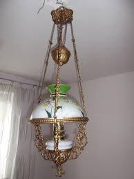 Ebay Antique Kerosene Lamps by Hanging Oil Petroleum Kerosene Lamp Shade Gaudard A U0026 P Morbier