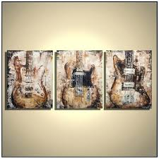 Bass Guitar Wall Art Best Paintings Images On Boards Music Painting