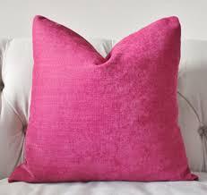 Dark Pink Pillow Raspberry Pillow Cover Designer Magenta