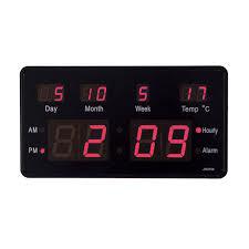 LED Digital Uhr Mit Datum Temperatur Kiosk Tischuhr Reiseuhr