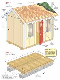 an easy to build modern shed plan 10x12 size plan for sale at