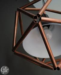 DIY Copper Pipe Icosahedron Pendant Light