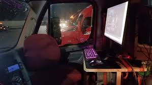 This Trucker Put A Gaming PC In His Big Rig To Deal With The ... Commentary Tesla Electric Semi Trailer Truck Cant Compete Fortune Parking Mania Game Mobirate Simulator 3d Apk Download Free Simulation Game For Android Semitruck Gets Stranded On North Carolina Beach After Gps Gives 20 Of Our Favourite Retro Racing Games Here Are 6 Ways To Make Pc Driving More Realistic Techradar 6x6 Police Water Surfer Criminal Chase Game 2 Best Games In The World 16 Open Mobile With Unity Completes First Selfdriving Commercial Shipment Through Fort This Trucker Put A Gaming In His Big Rig Deal The Scania Driving 2012 Gameplay Hd Youtube