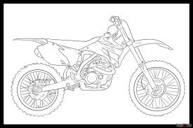 How To Draw A Motorcycle Easy Step By Learn Dirt Bike