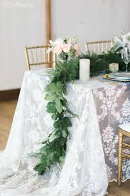 Flowing Greenery Wedding Table Setting Soft Rustic Decor RUSTIC SPRING WEDDING WITH NATURAL