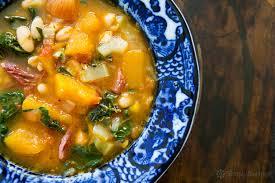 Jamaican Pumpkin Soup Vegan by White Bean Soup With Ham Pumpkin And Chard Recipe