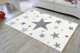kinderteppich teppich babyzimmer grau blau nachthimmel