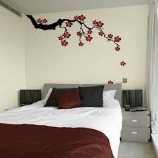 Blooming Sakura Wall Art For The Bedroom Flowers Luxurious Design Interior Comfort Bed