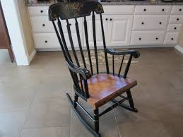 TELL CITY BLACK AND GOLD VINTAGE ROCKER ROCKING CHAIR - Sold Antique Mission Style Rocking Chair Refinished Maple And Leather Adams Northwest Estate Sales Auctions Lot 12 Vintage Wood Mini Rocker 3 Vintage Wood Carved Rocking Chairs Incl 1 Duck Design Seat Tell City Company Love Seat Projects In Childs Wooden Refurbished Autentico Bright White Victorian W Upholstered Back Wooden Chair Ldon For 4000 Sale Shpock With Patchwork Design On Backrest Batley West Yorkshire Gumtree Child Doll Red Checked Fabric