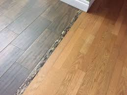 transitioning hardwood floor to tile floor is there a better way