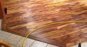 how do i install transition molding between my new hardwood and