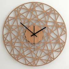polygon wand uhr holz wohnzimmer uhr home decor holz etsy