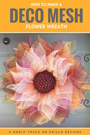 How To Make A Flower Deco Mesh Wreath O Grillo Designs