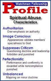 Watchman Fellowship Characteristics Of Spiritual Abuse Via Under Much Grace