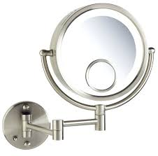lighted wall mounted magnifying makeup mirror amazing ideas