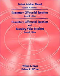 Student Solutions Manual To Accompany Boyce DiPrimas Elementary Differential Equations 7th Edition And With Boundary Value