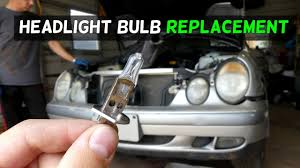 mercedes clk w208 w210 headlight bulb removal replacement