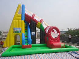 China Kids Adults Outdoor Inflatable Swimming Pool Water Slide 055 Mm PVC Tarpaulin Supplier