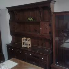 Dining Room Large Open Face Dark Pine Hutch